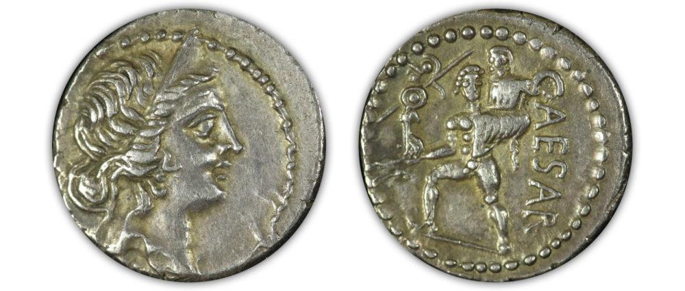Julius Caesar, dictator. 49-44BC. AR Denarius