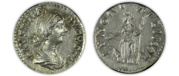 Faustina II. AD 147-175. AR Denarius