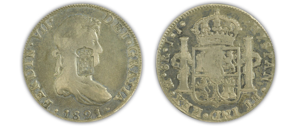 Mexico. 1821 8 Reales. Portugese C/S