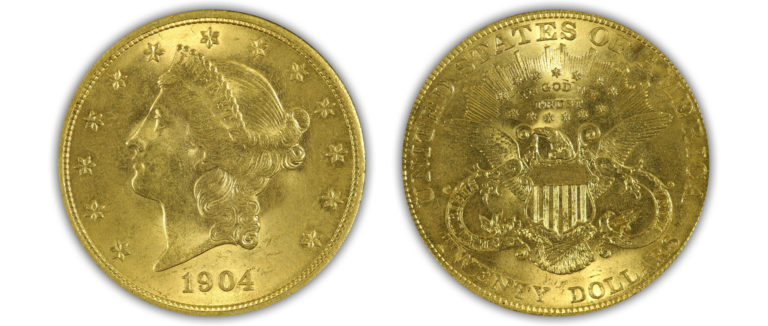 1904 $20 PCGS MS63